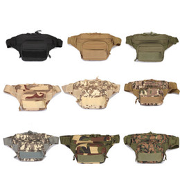 Discount tactical fanny packs Unisex Outdoor Sport Casual Tactical Belt Loops Waist Bag Molle Military Waist Fanny Pack 9 Colors ZZA889