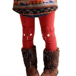 $enCountryForm.capitalKeyWord Australia - Thick Warm Girls Leggings Cute Rabbit Solid Girls Pants 2019 New Casual Kids Legging for Girls Spring Autumn Children Trousers