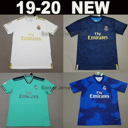 0a8add4d3b9 2019 2020 Real Madrid soccer jersey 19 20 green ISCO ASENSIO blue Champions  football shirts EA Sports MODRIC SERGIO RAMOS Thailand camiseta