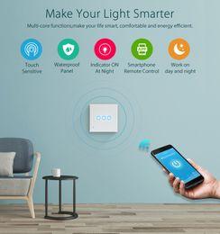 $enCountryForm.capitalKeyWord Australia - WiFi EU Light switch 3Gang Smart Wireless Euro 3 Gate Light Control Workes with Alexa Echo and google home Smart Switch