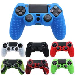 Discount sony wireless controller - Anti-slip Silicone Case Cover For PS4 Pro Slim Controller Gamepad Handle Soft Rubber Skin For Sony Dualshock 4 Wireless