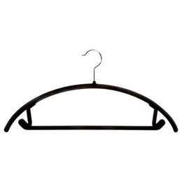 $enCountryForm.capitalKeyWord NZ - Flocking Hanger Non Slip Windproof Clothes Hanger Swivel Hook Plastic Coat Hanger No Trace Pant Hangers Clothe Support Rack DBC VT0401
