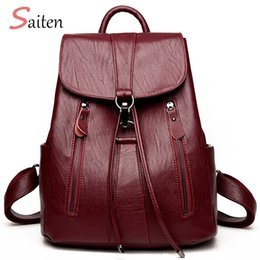 $enCountryForm.capitalKeyWord Australia - High Quality Leather Backpack Woman New Arrival Fashion Female Backpack String Bags Large Capacity School Bag Mochila Feminina Y19061204
