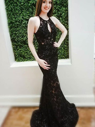 prom dress strapless black lace silk Australia - Abendkleider 2019 Black Prom Dresses Long Mermaid Evening Gowns Lace Cocktail Party Ball Dress Women Cheap Celebrity Formal Gown