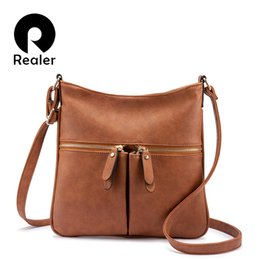 Ladies Messenger Handbags Australia - Realer Women Shoulder Messenger Bags Female Brand Crossbody Bag Small Purses And Handbags Designer Ladies Pu Leather Bag Y19052402