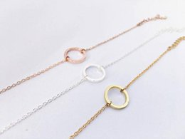 $enCountryForm.capitalKeyWord Australia - Simple Dainty Open Circle charm Bracelets Circle Outline Bracelets Eternity Karma Circle Round Bracelets for women gift jewelry