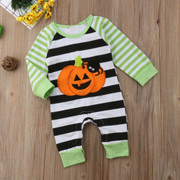 Wholesale hottest cosplay for sale – halloween New hot selling Baby Kids one piece Clothing Romper Halloween Stripped Romper Long Sleeve Baby Girl Cosplay Clothing romper