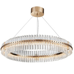 $enCountryForm.capitalKeyWord NZ - Living Room LED Chandelier Luxury Modern Crystal Lamp Double Layer Hanging Cristal Lustre Dining Room Gold Lighting UPS