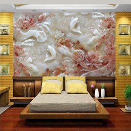 custom carvings Australia - custom size 3d wallpaper photo wallpaper living room bed room jade carved fish 3d picture sofa TV backdrop wallpaper mural non-woven sticker