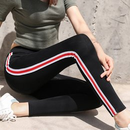 $enCountryForm.capitalKeyWord NZ - 2019 New Women Leggings Spring Leggins Cotton thick Casual Striped Gothic Fitness Legging Sporting Pants Trousers Plus Size