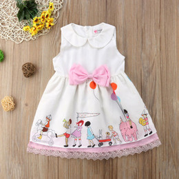 $enCountryForm.capitalKeyWord Australia - Emmababy Newborn Kids Baby Girl Princess Dress Lace Bowknot Sleeveless Peter Pan Collar Cartoon Parttern Party Sundress 6M-5T