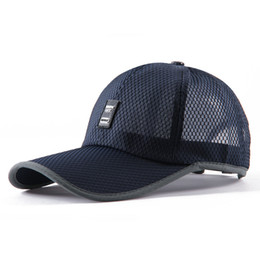 sports hats factory Canada - Factory wholesale quick drying sports mesh caps high quality baseball hat custom New fashion dad hat