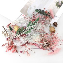 dry flowers for wedding UK - 1Box Real Dried Flower Dry Plants For Pendant Making Craft Dried Flower DIY Material for Valentine's Day QW298