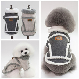 male clothing styles Canada - 2020 Branded Canadian Designer Autumn And Winter New Dog Clothes Explosion Models Teddy European And American Style Thick Jacket Cotton