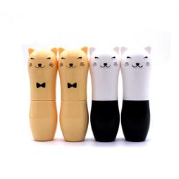 Personal Cartoons Australia - Empty Cute Cat Cartoon Lip Balm Lips Care Containers Kids DIY Lip Pomade Lipstick Batom Sample Tubes Makeup Tools