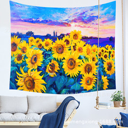 $enCountryForm.capitalKeyWord UK - Sunflower Hanging Cloth Room Dormitory Decoration Painting Tapestry Metope Background Cloth Can