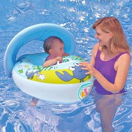Wholesale Kids Baby Inflatable Seat Swimming Swim Ring Pool Aid Trainer Beach Float Boat Outddor Toys for Children