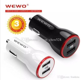 $enCountryForm.capitalKeyWord Australia - High Quality WEWO Dual Port USB Car Charger 2.1A Quick Charging Output Universal Car Charger Wall Adapter For iPhone Samsung