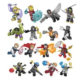 $enCountryForm.capitalKeyWord Australia - Super Hero Avengers 3 Infinity War Iron Man Hulk Thanos Thor Thanos Doctor Stranger Spider Man Groot Building Block Toy Figure Brick