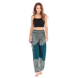 Yoga Pant Pattern Free UK - 2019 Ethnic style Fashion explosion Thai Loose Yoga Knickers Pants, Lanterns Yoga Suit, Woman Silk Comfortable Travel Pants