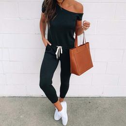 $enCountryForm.capitalKeyWord Australia - 2019 Summer Black Jumpsuit Women Off Shoulder Female Jumpsuit Romper Short Sleeve Elegant Jumpsuit Women Rompers Beach Overall MX190726
