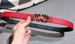 UniqUe belts women online shopping - Stylish Unique Style Women Luxury Belts High Quality Designer Belt Colorful Buckle Lady Luxury Belt Cm Color Designer Brand Belt