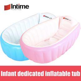 Infant Pool Inflatables Australia - Infant Dedicated Inflatable bathtub thicken PVC Bath Tub Baby Swimming Pool Eco-friendly Portable Children Kids Tub 98x65x28CM