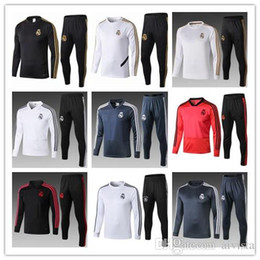 Wholesale thai suits resale online – Thai Real Madrid soccer adult training suit MODRIC ASENSIO ISCO training suits jacket training suit suits sports wear