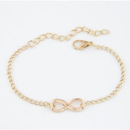 $enCountryForm.capitalKeyWord UK - All Match Clothes Lady Girls Elegant Design Stylish Punk Metal Number 8 Sign Hand Chain Bangle Bracelet Fashion Jewelry Gift