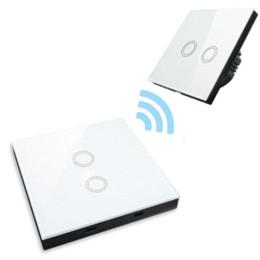 $enCountryForm.capitalKeyWord UK - EU Standard Smart Remote Control 2 Way Crystal Glass Panel, Wall Light Touch Screen Switch,White Black Gold wholesale