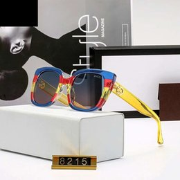 Mens colorful sunglasses online shopping - Rainbow Style Luxury Sunglasses Designer Sunglasses Mens Woman Colorful Goggle Glasses UV400 Brand Models High Quality with Box