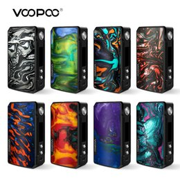 Electronic Cigarette Kit Batteries Australia - 100%Authentic VOOPOO DRAG 2 177W Box Mod Power By 18650 Battery Electronic Cigarette Vape Battery Kit