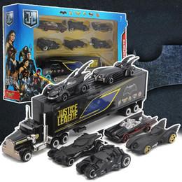 Suit Cars Australia - New Batman, alloy chariot, suit toys, 6 chariots, container cars, children's pocket car.