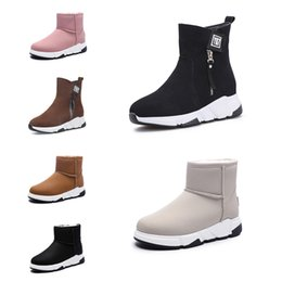styles winter boot Canada - Hotsale Non-Brand fashion women boots Triple Black Red Beige Brown Suede winter snow ankle boots outdoor walking shoes 35-40 Style 14