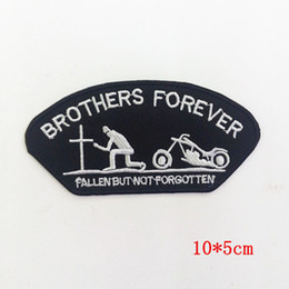 Punk Metal Wholesale Clothing Australia - HEAVY METAL PUNK ROCK MUSIC SEW IRON ON PATCH BROTHERS FOREVER BIKER PATCH for Jacket Jeans Clothing Badge