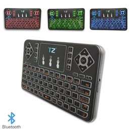wireless keyboards for pc NZ - Wireless Bluetooth Flying Mouse Keyboard Q9 Mini Multi-Touch Smart Bluetooth Keyboard with Tri-Color For Notebook Laptop Mac Desktop PC TV