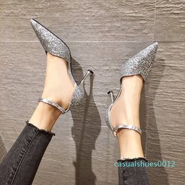 nude color stiletto sandals UK - Ladies High Heels Dress Work Casual Party Wedding 7.5cm Nude Color Thin High Heels Designer Luxury High Heel Sandals Capricorn1978 c12