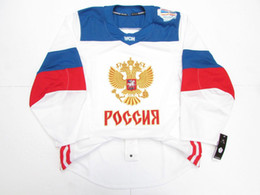 e391eaef6 Russia Ice Hockey Jersey UK - Cheap custom TEAM RUSSIA WHITE PRO 2016 WORLD  CUP OF