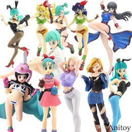$enCountryForm.capitalKeyWord Australia - Dragon Ball Z Bulma Dragonball Lunchi Bulma Chichi Lazuli Gals Android NO.18 Girls Ver.III Action Figure Collection Model kids toys