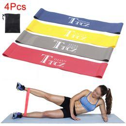 $enCountryForm.capitalKeyWord Australia - Newly 4 Pcs Set Resistance Loop Exercise Fitness Bands for Yoga Strength Training Pilates Calisthenics BN99