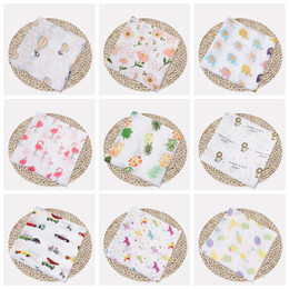 gauze towels NZ - Muslin Baby Blankets Cotton Newborn Swaddling Bath Gauze Infant Wrap Swaddles Kids Sleepsack Stroller Cover Play Mat 72 Designs DHW1387
