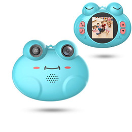 $enCountryForm.capitalKeyWord NZ - Kids Camera Toys for Boys,Gifts Rechargeable Shockproof Cute Cartoon Frog Design Mini Camera for Girls Anti-Shake Children digital Video Cam
