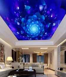 Colorful wallpapers online shopping - Mural Paintings Living Room Ceiling Wallpaper Abstract blue colorful three dimensional pattern bar KTV ceiling mural