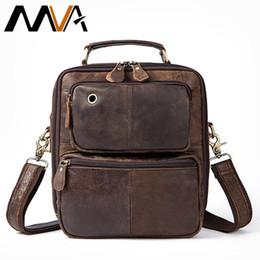 $enCountryForm.capitalKeyWord Australia - Mva Genuine Leather Messenger Bag Men's Shoulder Bag Vintage Men's Bags Leather Flap Man Handle-top Crossbody Bags For Men 8951 Y19061903