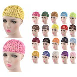 Crochet Snood Hair Net Australia - 2018 Womens Mesh Hair Net Crochet Cap Solid Color Snood Sleeping Night Cover Turban Hair Net Accessories