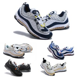 Wholesale 2018 Mens Designer Shoes AIR OG Gundam X Bullet Women Sliver White Blue Running Shoes S Fashion Retro Brand Air Run Sneakers
