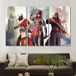 $enCountryForm.capitalKeyWord UK - assassins creed chronicles china canvas printed painting 3 sets wall pictures for living room decor