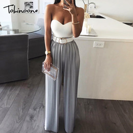 $enCountryForm.capitalKeyWord Australia - Tobinoone Sexy Backless Off Shoulder Women Tiered Ruffle High Waist Jumpsuit Romper Female Casual Overall Femme Q190516
