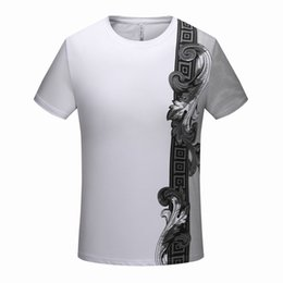 Discount delivery flowers - Paris summer new high-end brand men's wear round collar leisure flower pattern high-quality T-shirt jacket m-3xl, f