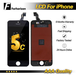 Iphone Screen Testing Australia - For iPhone 5C LCD Display Tested Grade A+++ Black LCD Display With Touch Screen Digitizer Replacement & Free DHL Shipping